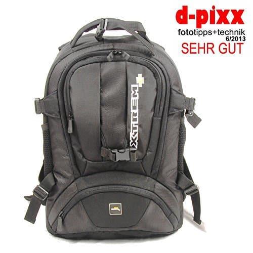XTREM+ XTREMPLUS Dynamik Shuttel L – Premium Fototasche – Fotorucksack mit Zugriff über das Rückenteil NEUHEIT 2014