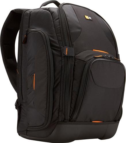Case Logic SLRC206 SLR Camera Backpack L Kamerarucksack inkl. Notebookfach & Hartschalenboden (für Spiegelreflex) schwarz/orange