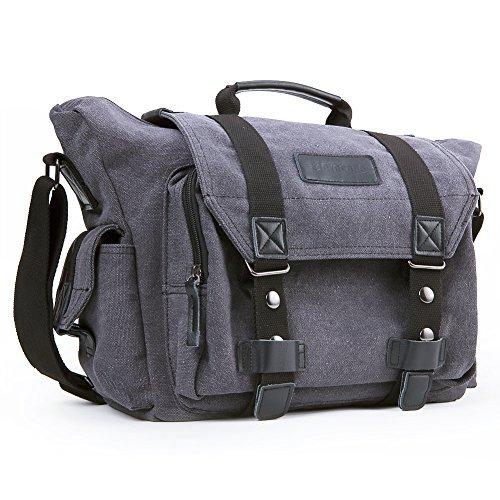 DSLR Kameratasche | Evecase® Extragroße DSLR Schultertasche mit Laptopfach