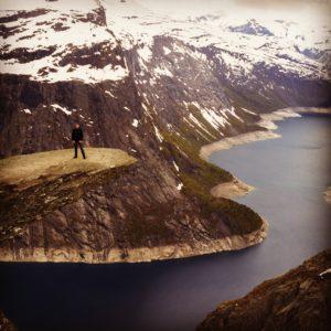 Fotorucksack, Trolltunga, Norwegen