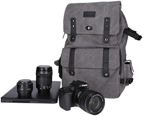 Rollei Vintage Fotorucksack / Everyday Backpack mit 30 l Fassungsvermögen