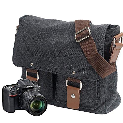 Neuleben Kameratasche Schultertasche mit abnehmbarem Kamerafach